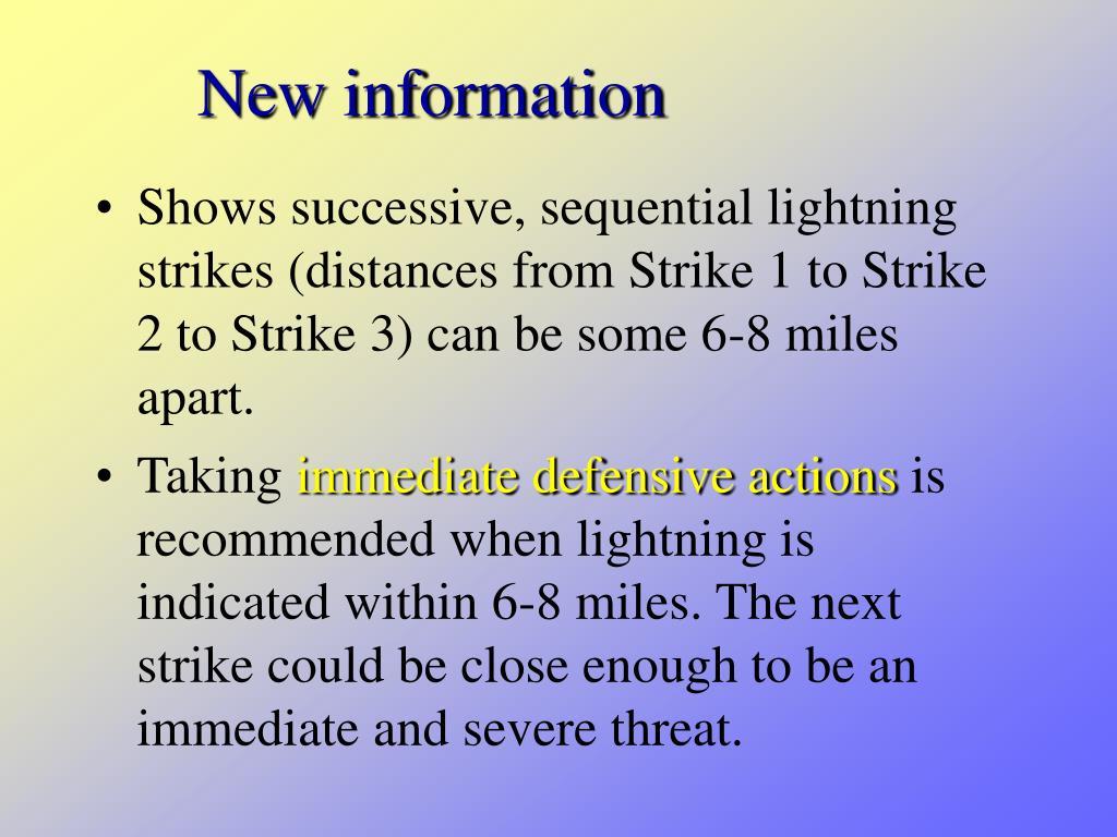 New information