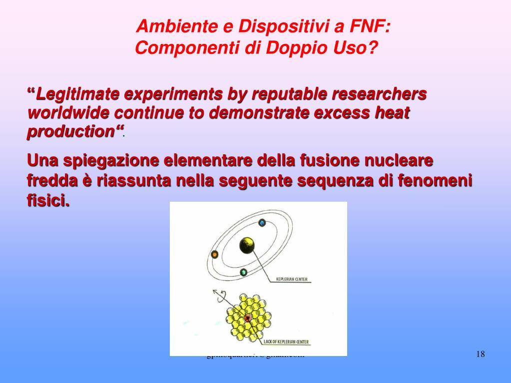 Ambiente e Dispositivi a FNF: