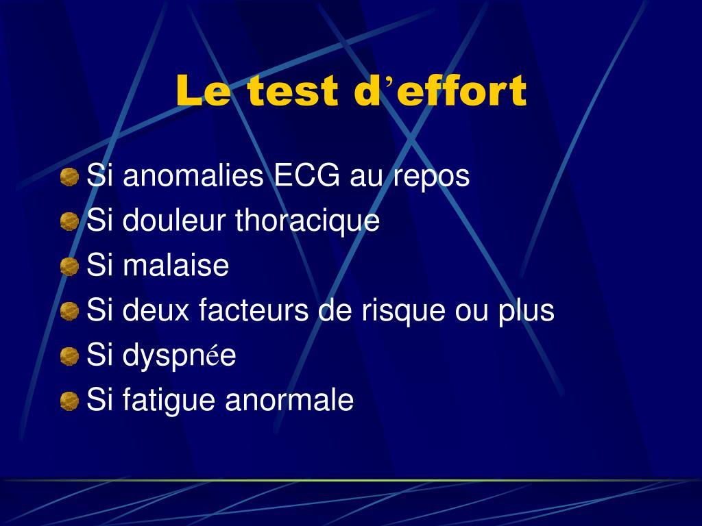 Le test d