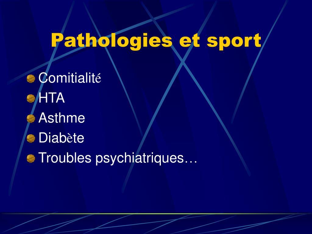Pathologies et sport