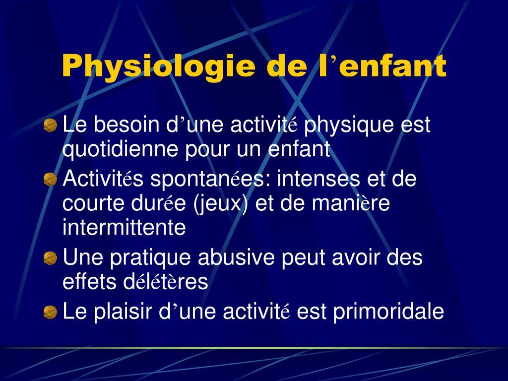 Physiologie de l