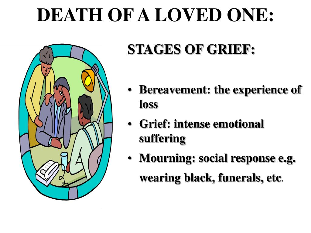 DEATH OF A LOVED ONE: