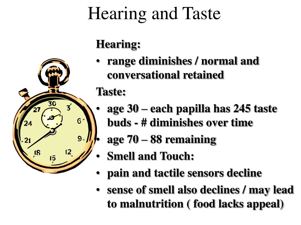 Hearing and Taste
