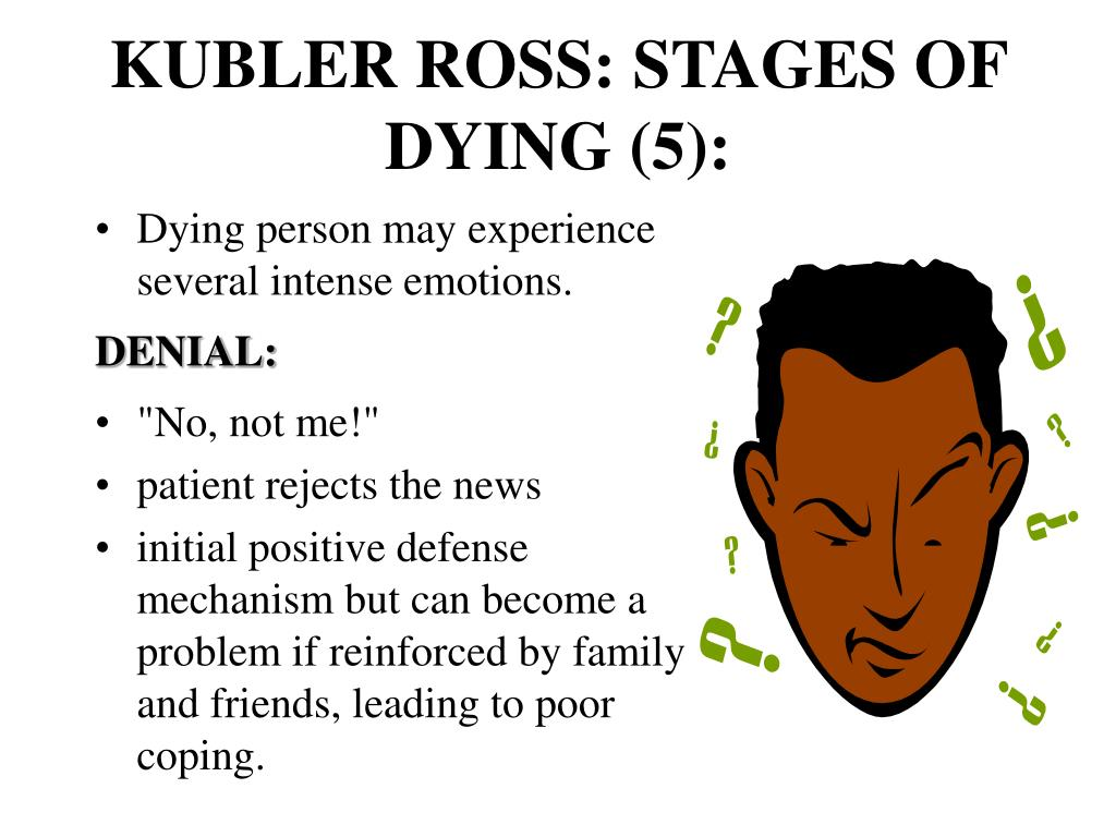 KUBLER ROSS: STAGES OF DYING (5):
