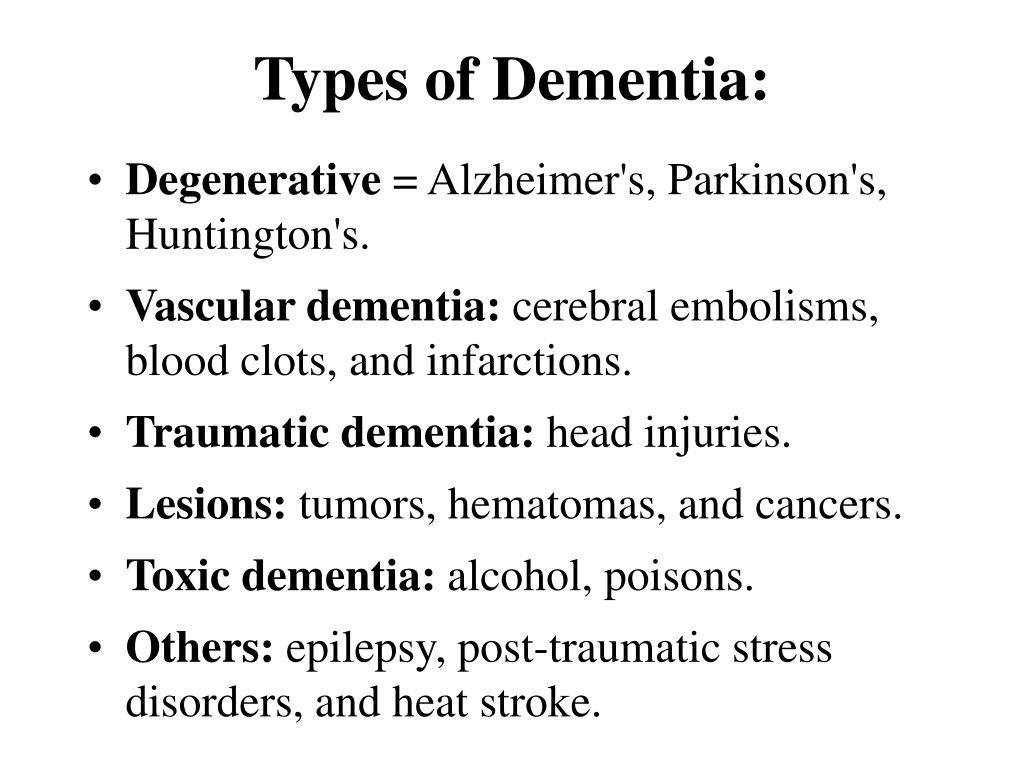 Types of Dementia: