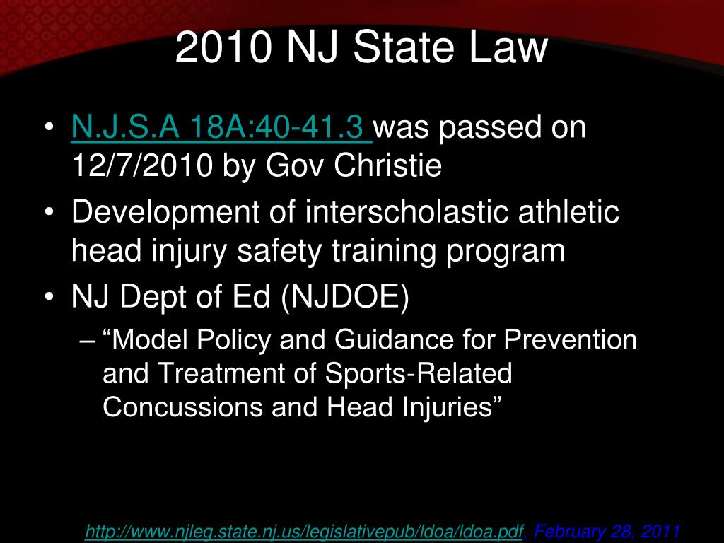 Nj state dating laws