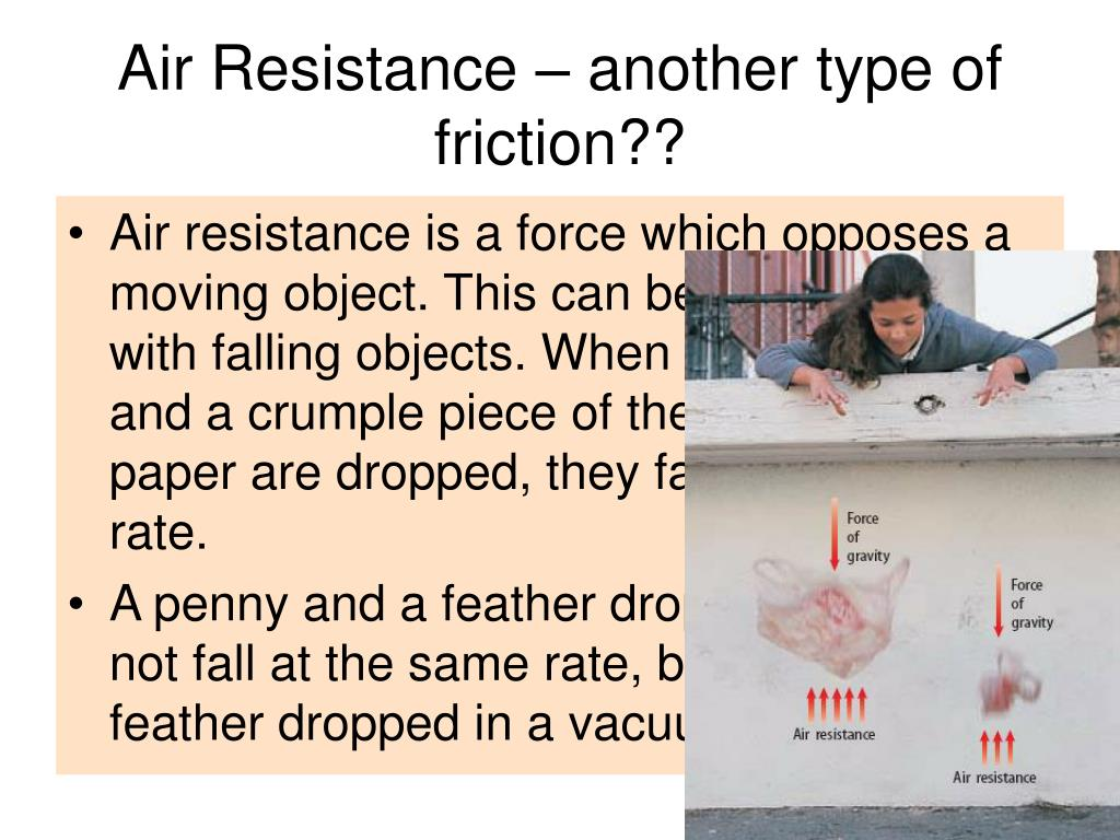 Air Resistance – another type of friction??