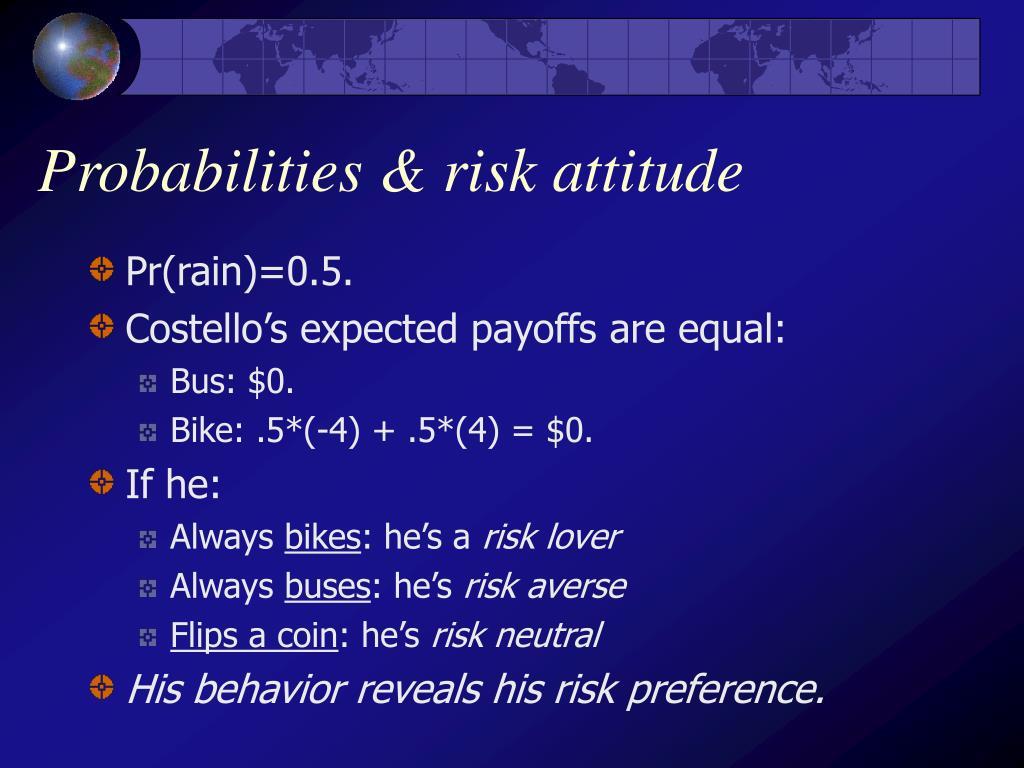 Probabilities & risk attitude