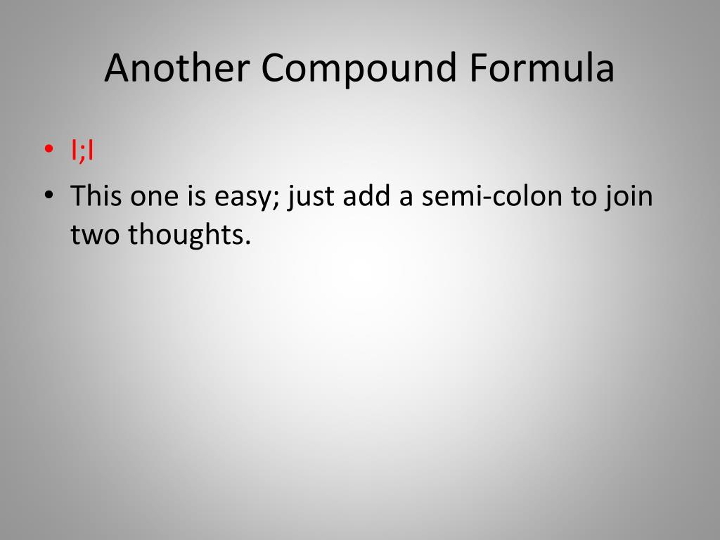 Another Compound Formula