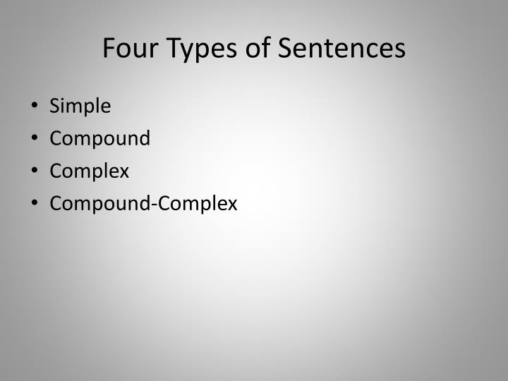 Four types of sentences l.jpg