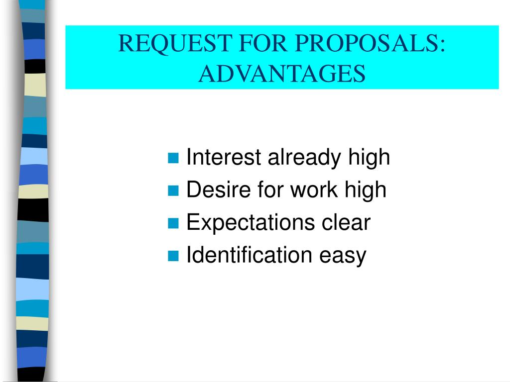 REQUEST FOR PROPOSALS: