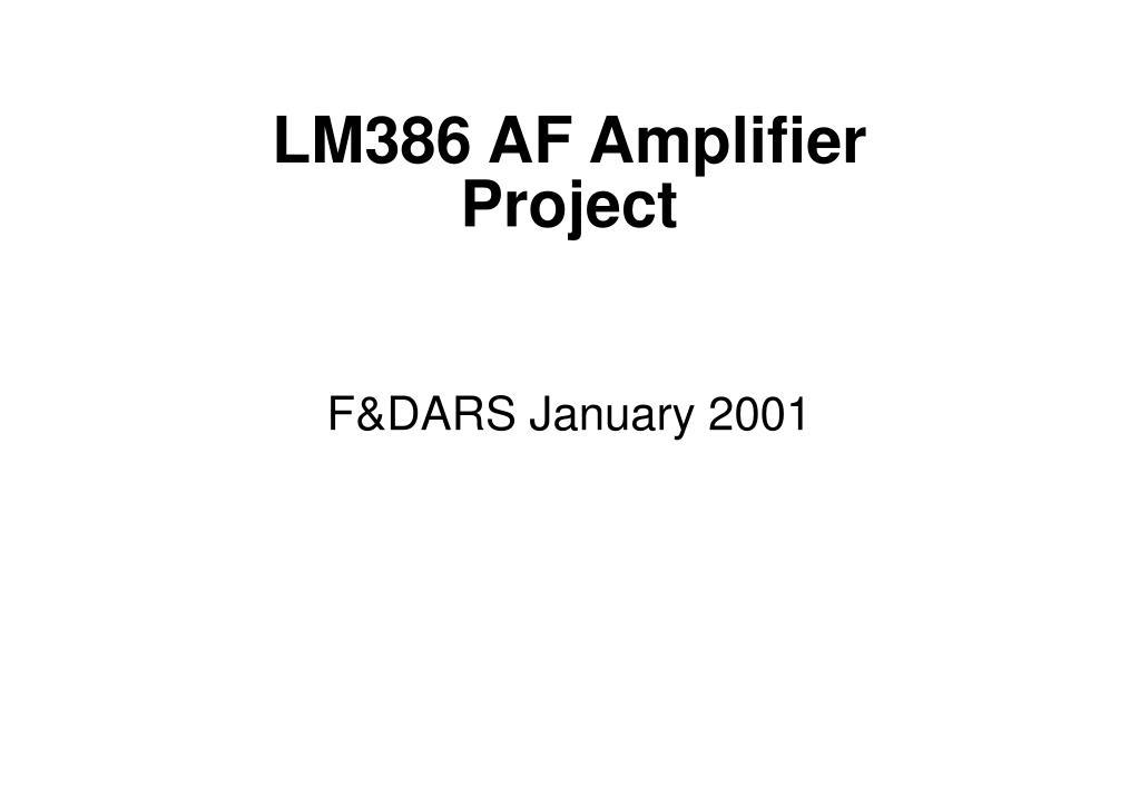 LM386 AF Amplifier