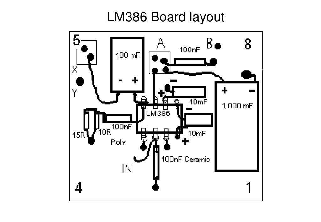 LM386 Board layout