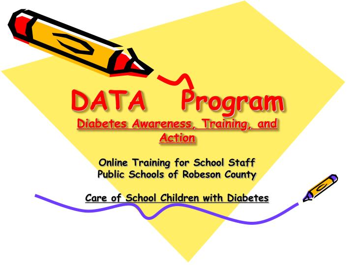 Data program diabetes awareness training and action