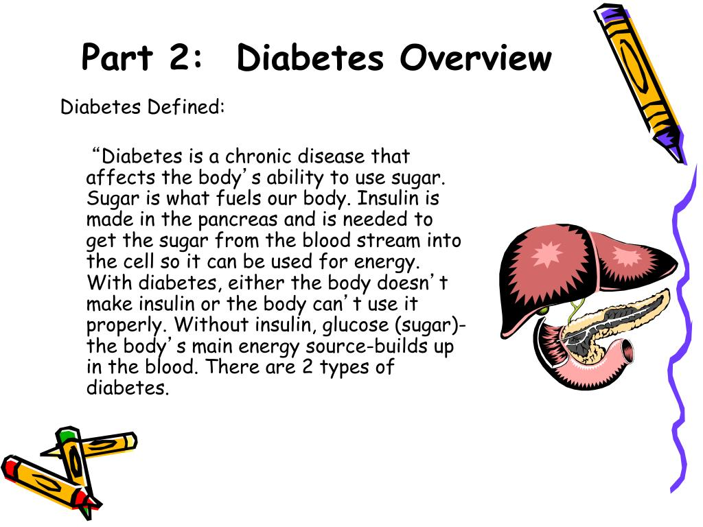 Part 2:  Diabetes Overview