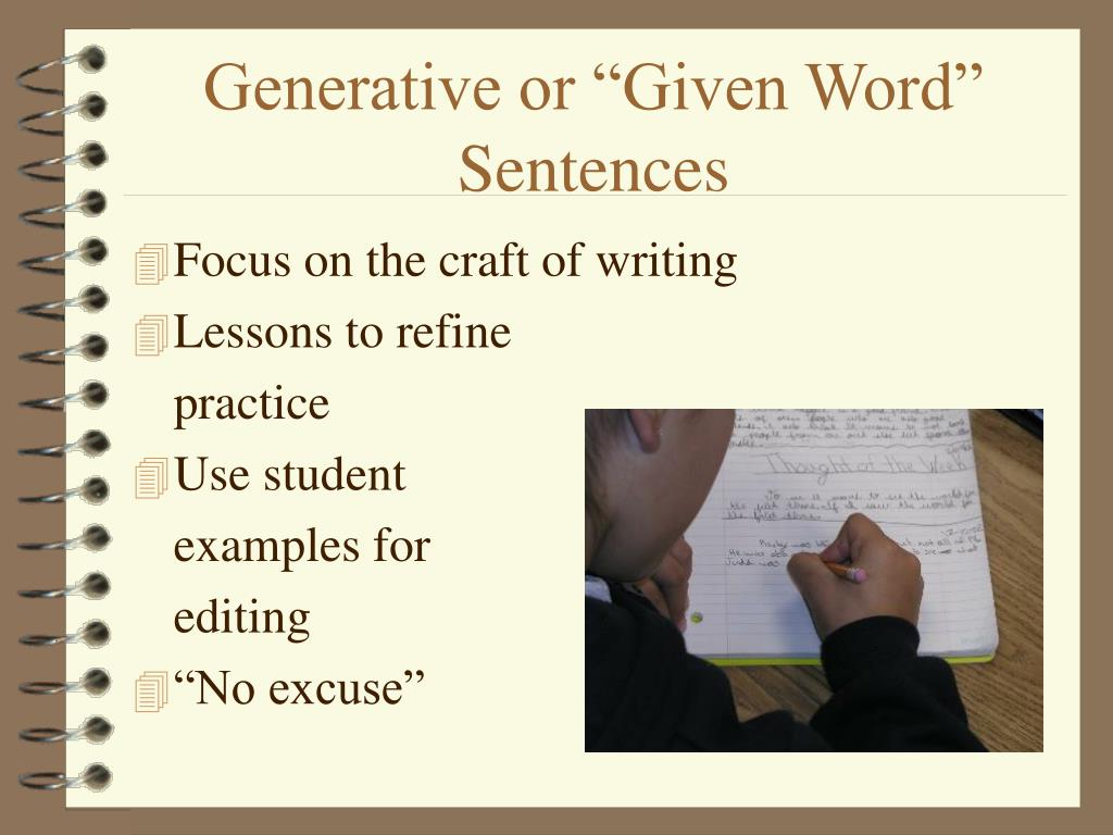 "Generative or ""Given Word"" Sentences"