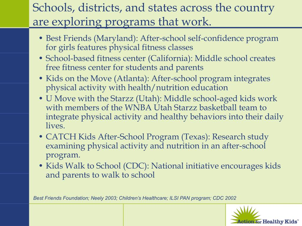 Schools, districts, and states across the country are exploring programs that work.