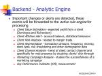 backend analytic engine