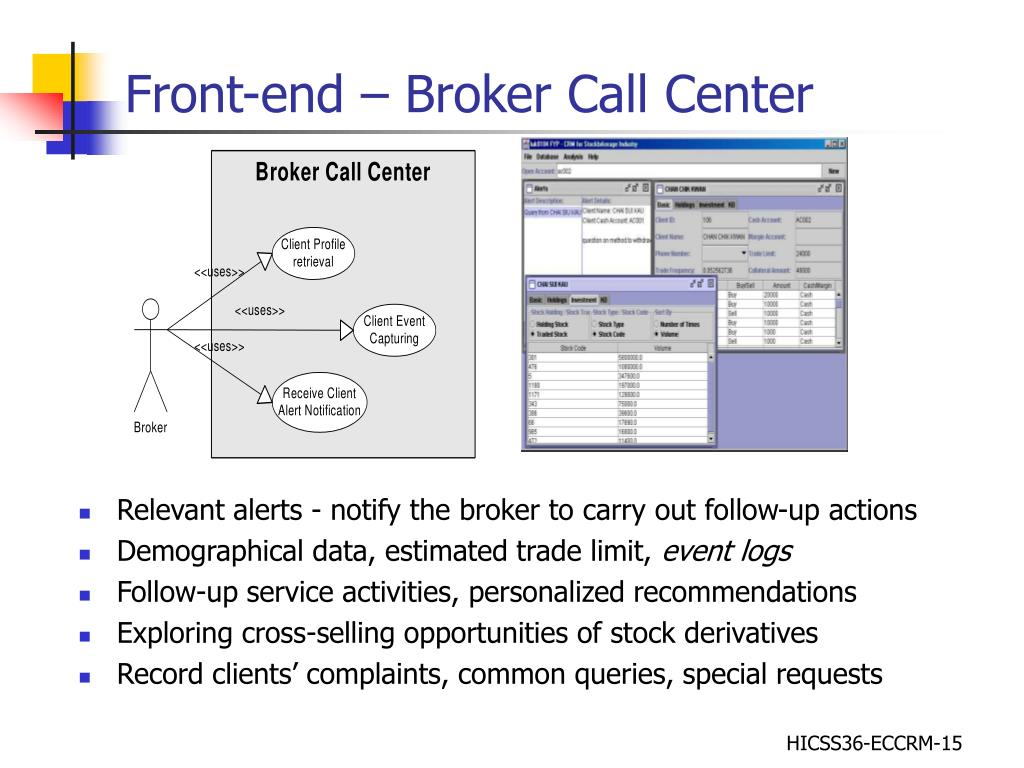Front-end – Broker Call Center