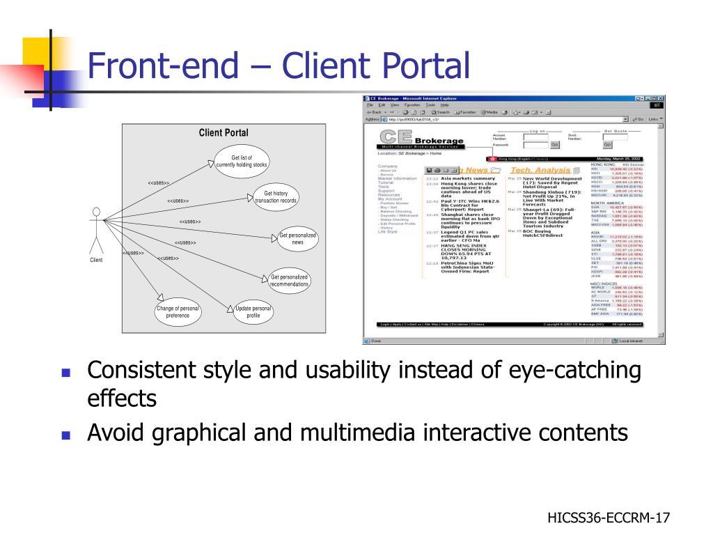 Front-end – Client Portal