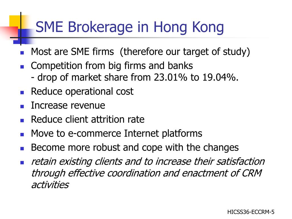 SME Brokerage in Hong Kong