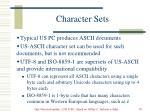 character sets58