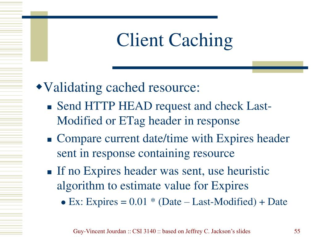 Client Caching