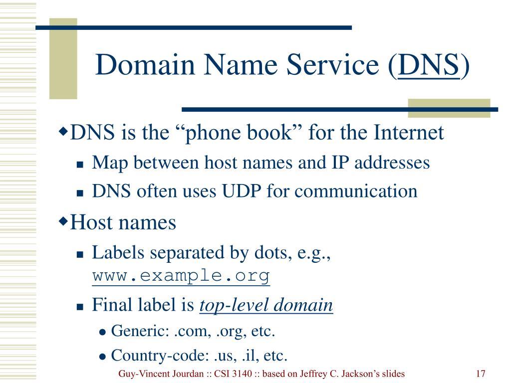 Domain Name Service (