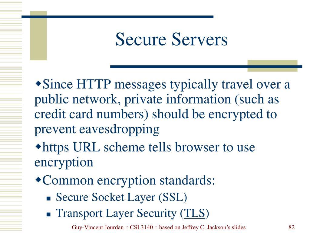 Secure Servers