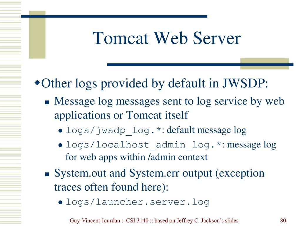 Tomcat Web Server