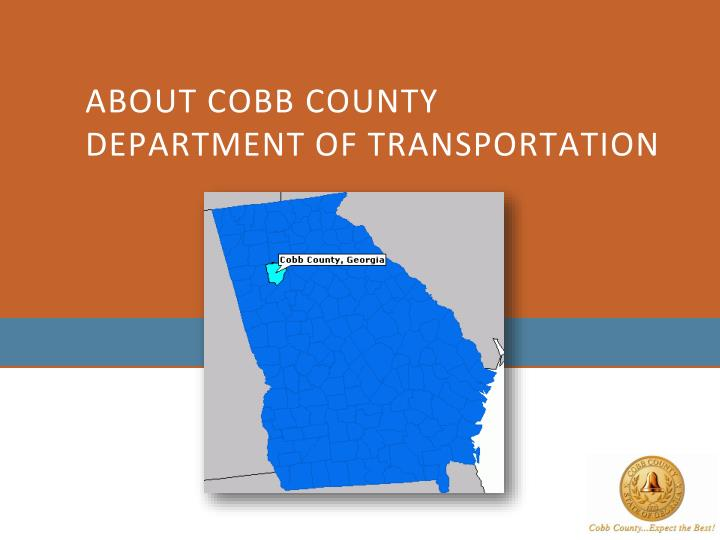 About cobb county department of transportation
