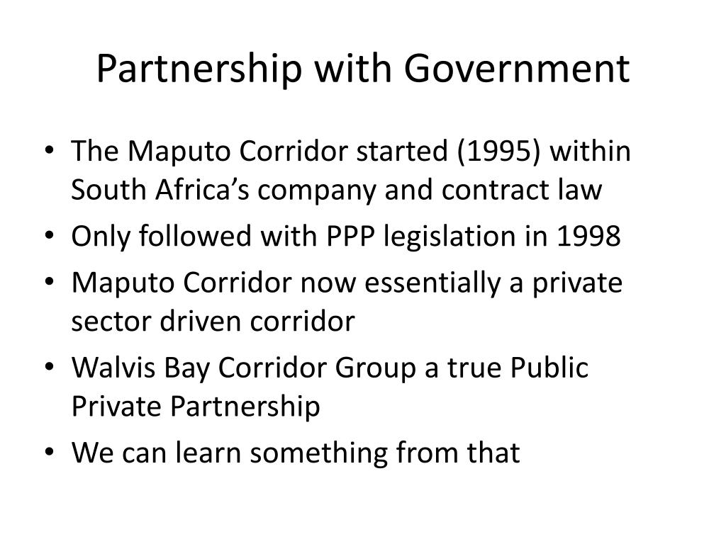 Partnership with Government