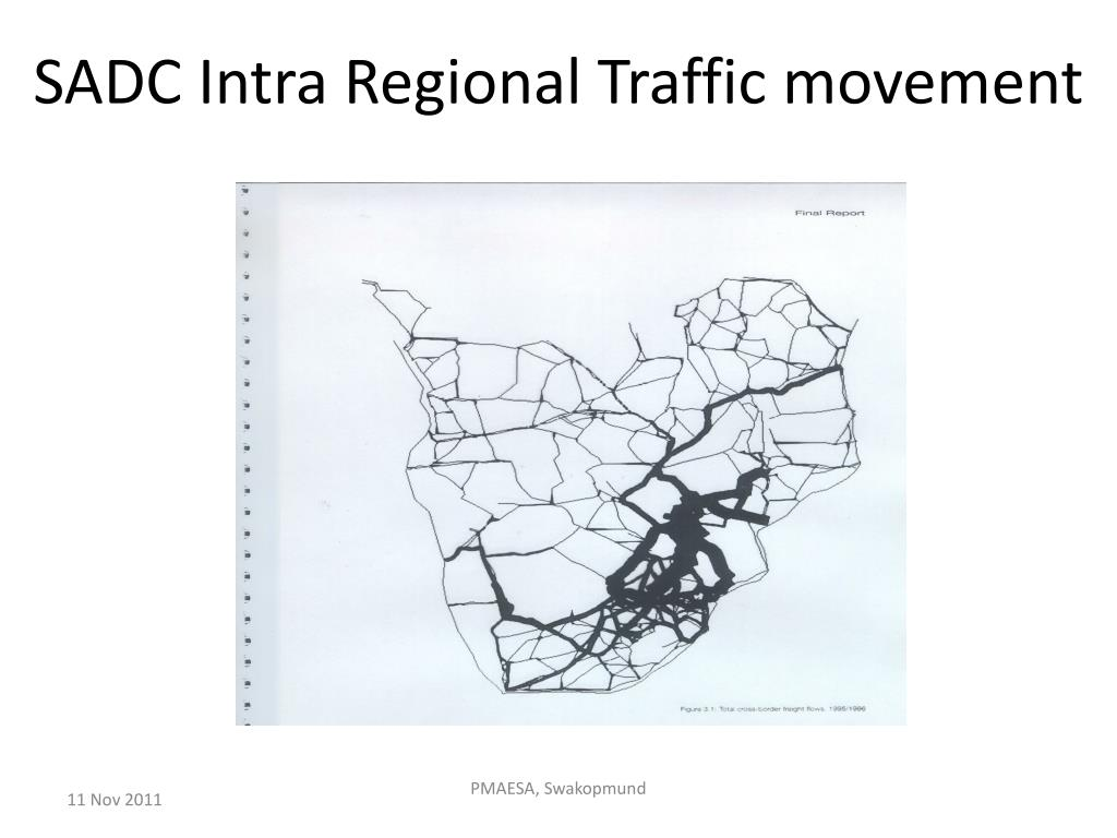 SADC Intra Regional Traffic movement