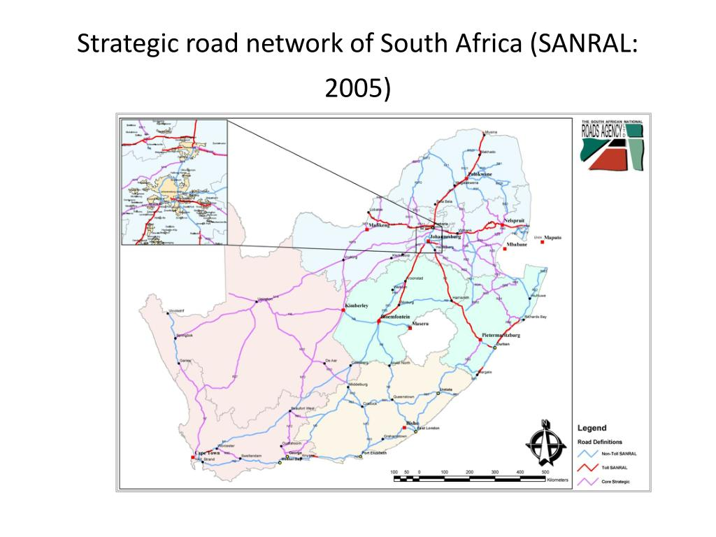 Strategic road network of South Africa (SANRAL: 2005)