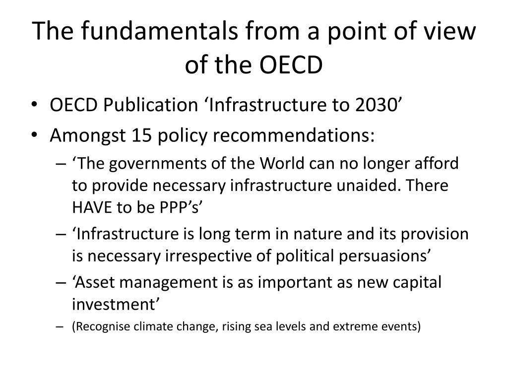 The fundamentals from a point of view of the OECD
