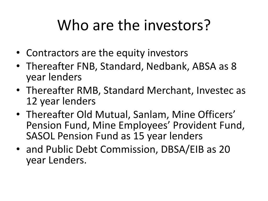 Who are the investors?