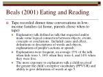 beals 2001 eating and reading