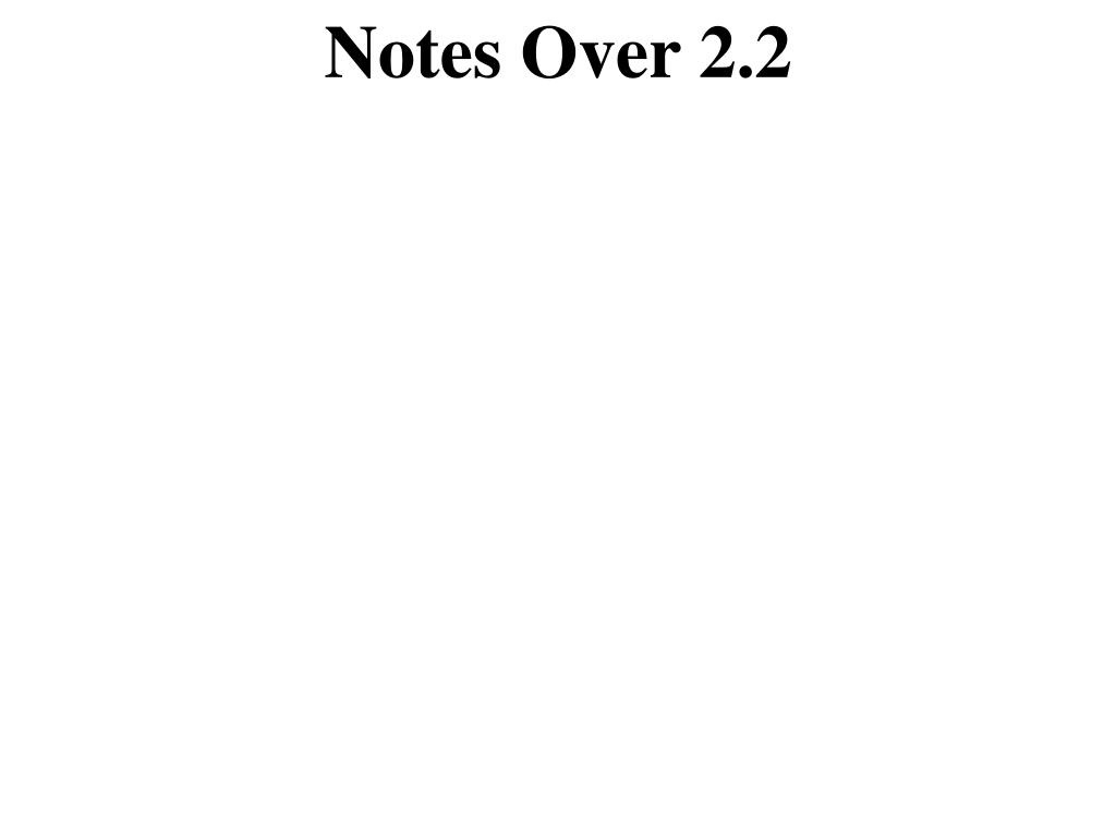 Notes Over 2.2