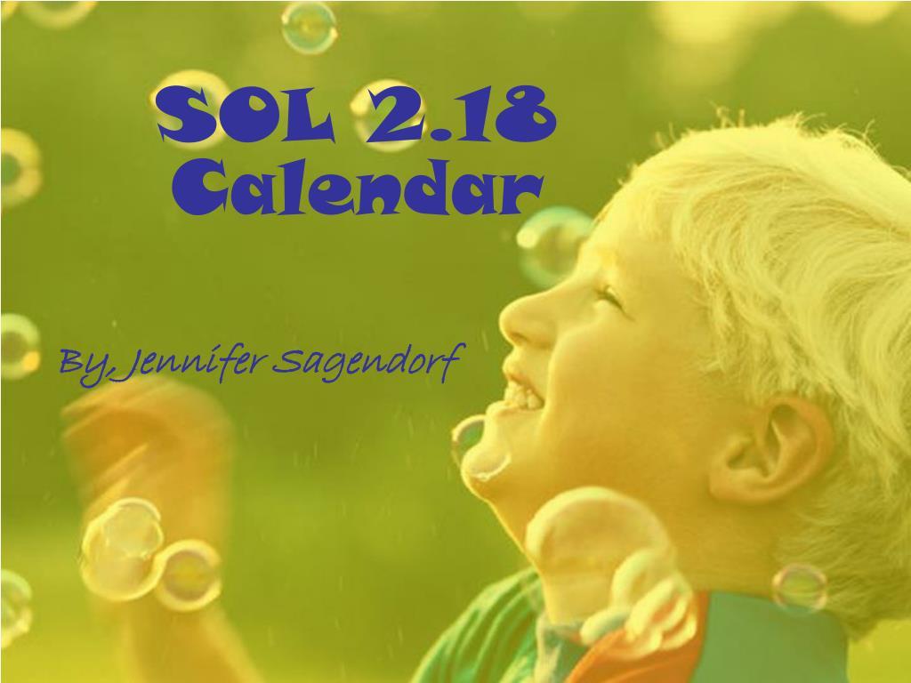 SOL 2.18  Calendar