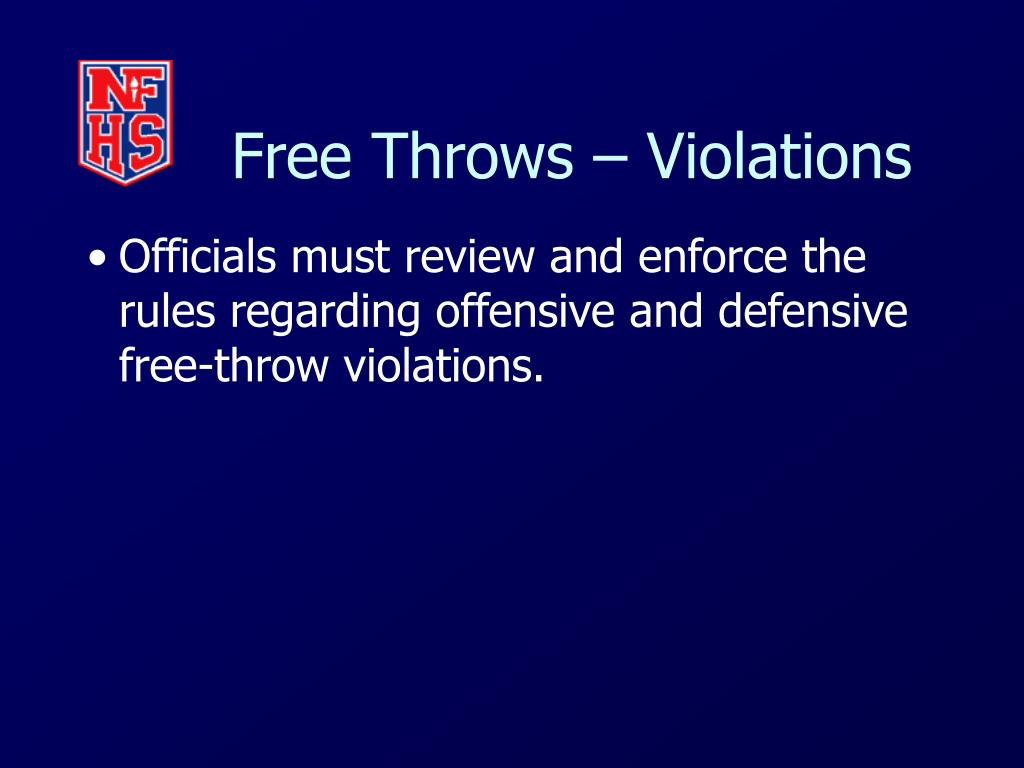 Free Throws – Violations