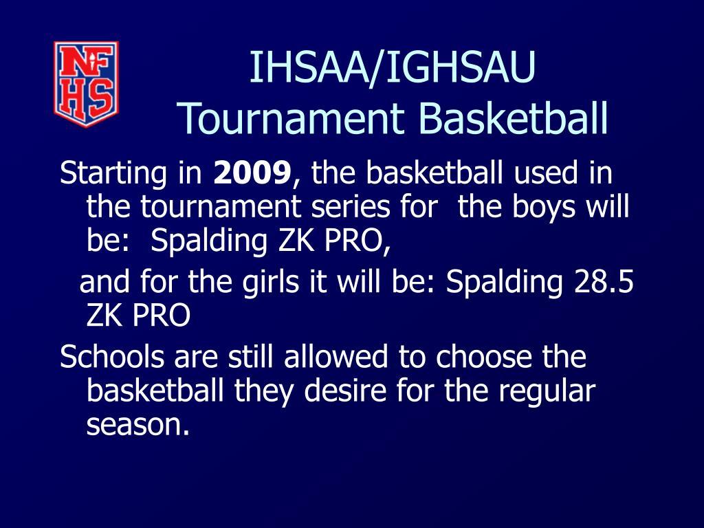 IHSAA/IGHSAU Tournament Basketball