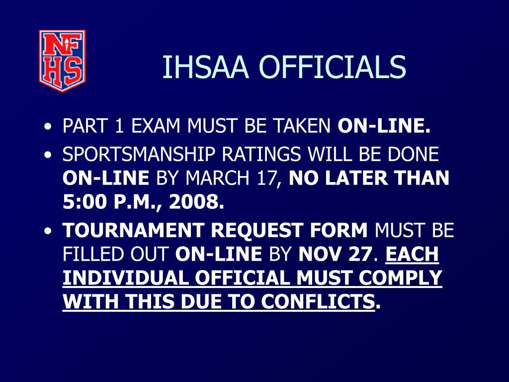 IHSAA OFFICIALS