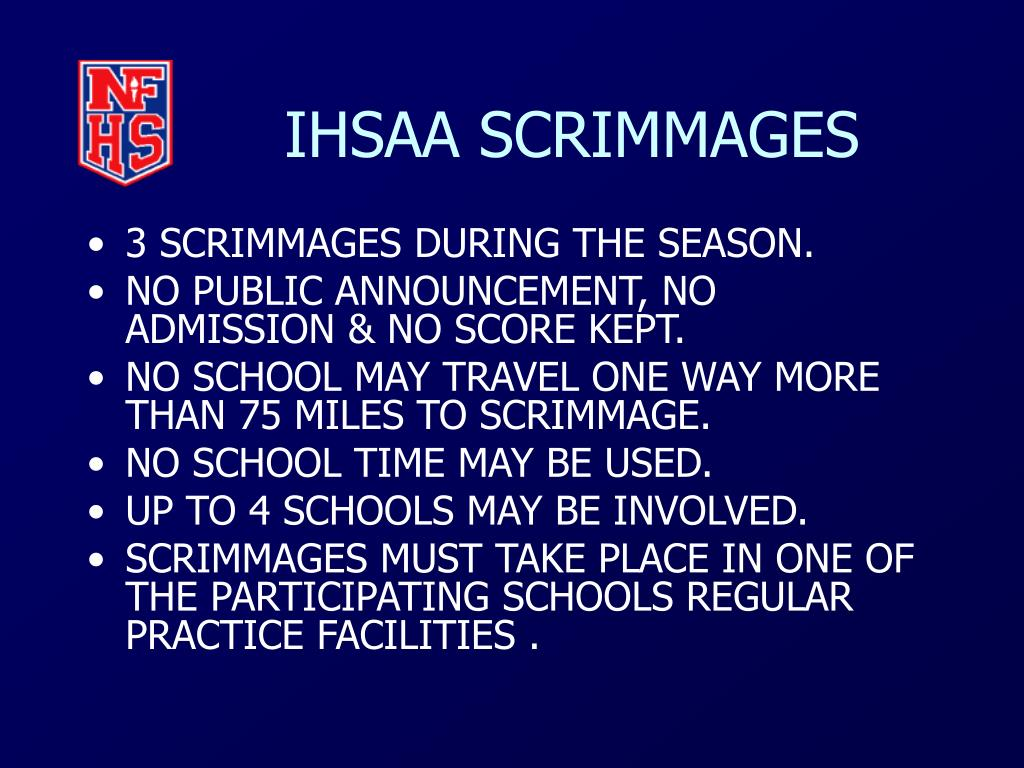 IHSAA SCRIMMAGES