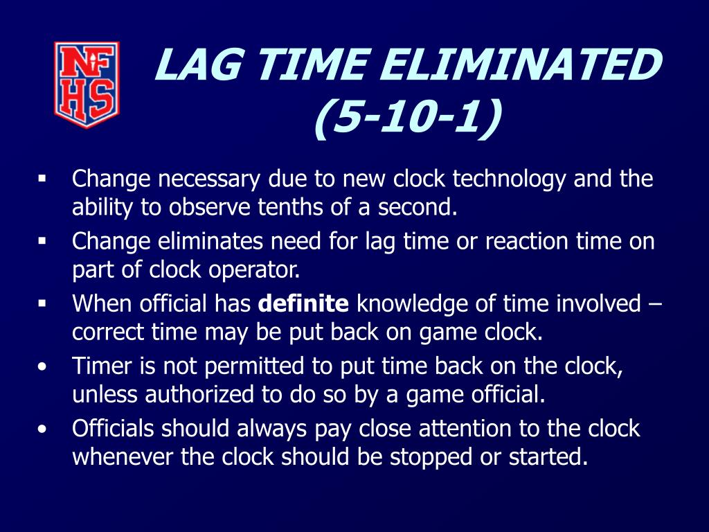 LAG TIME ELIMINATED (5-10-1)