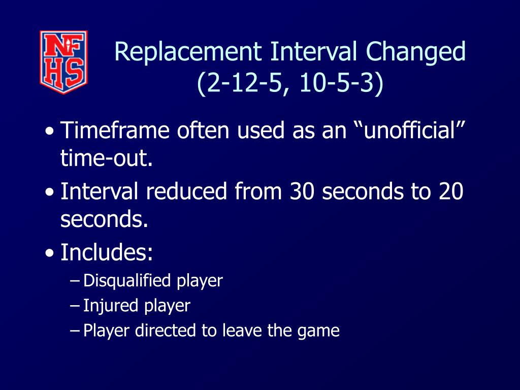 Replacement Interval Changed
