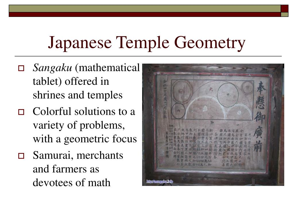 Japanese Temple Geometry