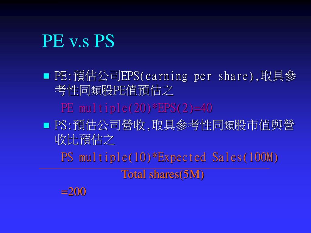 PE v.s PS