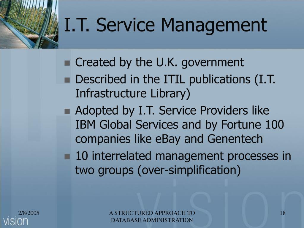 I.T. Service Management