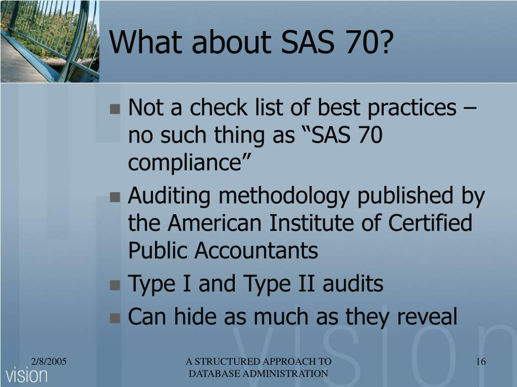 What about SAS 70?