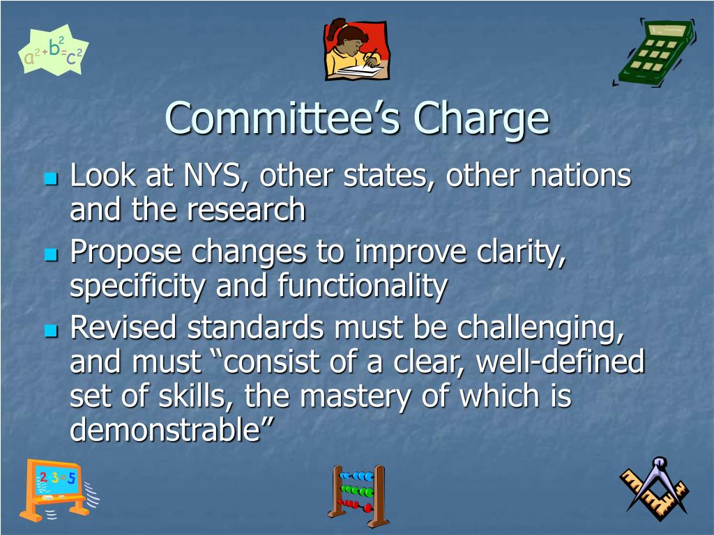 Committee's Charge
